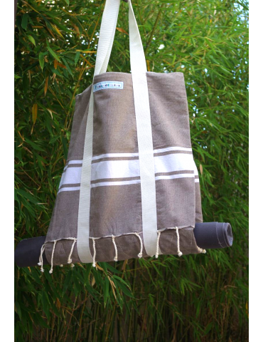 Sandstone double tote bag