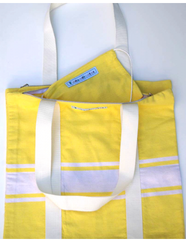 Canary double tote bag