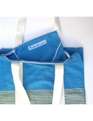 Lurex asana double tote bag