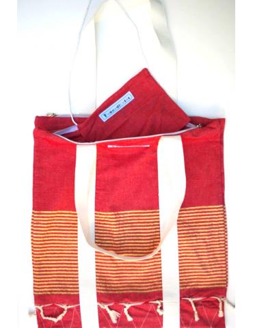 Lurex agni double tote bag