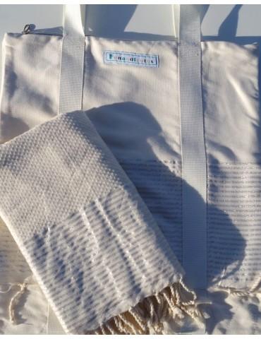 Set - Lurex saucha bag and fouta