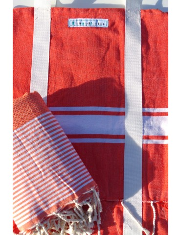 Set - Dawn bag and honeycomb fouta