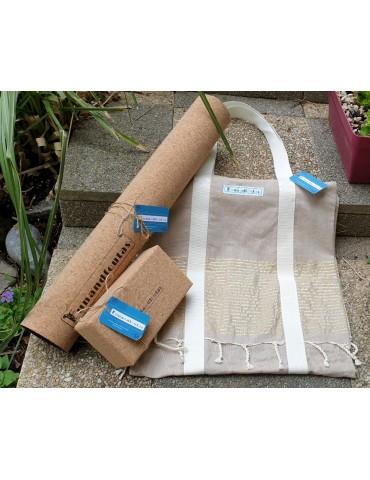 Pack Yoga Complet Tapis Brique Sac Fouta