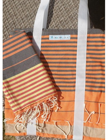 Ensemble Sac et Fouta Orage - Collection City Spirit Funandfoutas