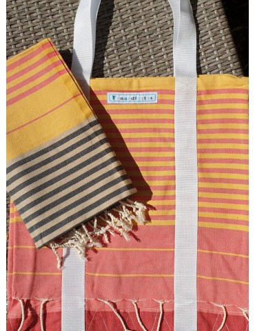 Sac et Fouta plate Eté - collection City Spirit Funandfoutas