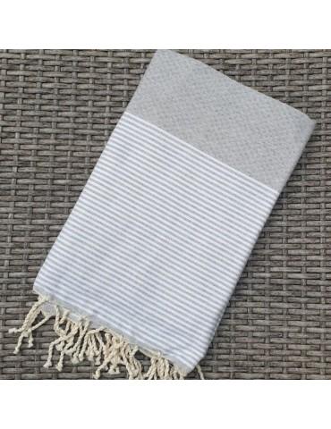 Pearl grey honeycomb fouta
