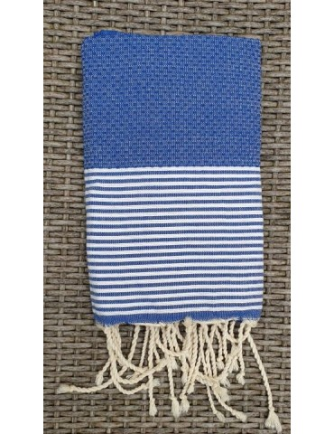 Fouta Nid d'abeille bleu Europe - City Spirit