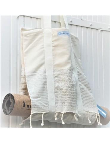 Lurex saucha double tote bag