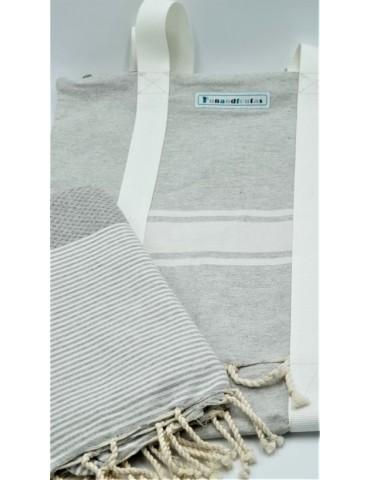 Set - Pearl grey bag and...