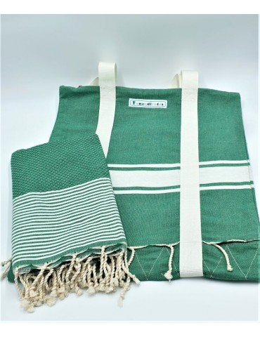 Set - Forest green bag and...